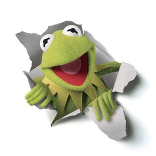 Grodan Kermit är en grön mupp